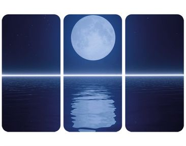 Product picture Wall Mural Silver Moon Rise Triptych I