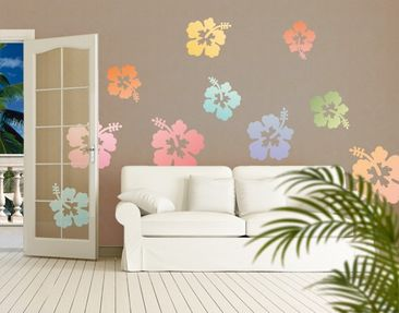 Produktfoto Wall Decal no.547 Hibiscus Flowers In...