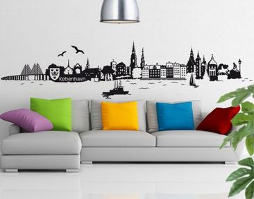Produktfoto Wall Decal no.JS1 Copenhagen Skyline