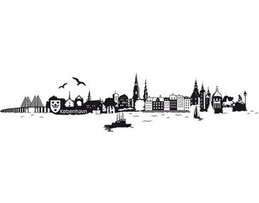 Product picture Wall Decal no.JS1 Copenhagen Skyline