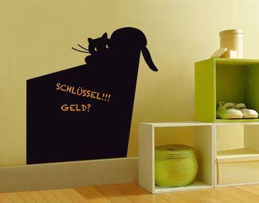Produktfoto Wandtattoo Katze Kreidetafel No.UL915 Schräge Katze