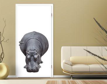 """Produktfoto Fototapete Tür - Papier No.43 """"BIG HIPPO"""" 100x210cm"""