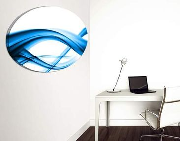 Product picture Canvas Art Oval Blue Element