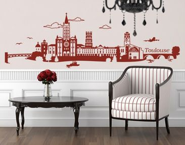 Produktfoto Wall Decal no.JS2 Toulouse Skyline
