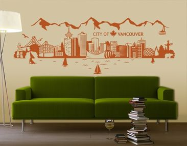 Produktfoto Wall Decal no.JS3 Vancouver Skyline