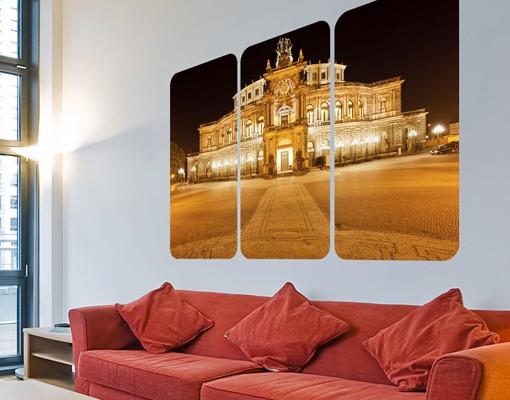 Produktfoto Selbstklebendes Wandbild Dresdner Opernhaus Triptychon I