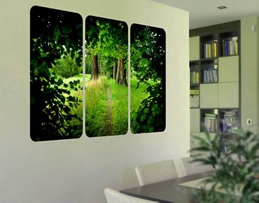 Product picture Wall Mural Hidden Glade Triptych I
