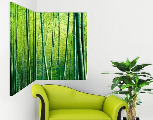 Produktfoto Eckleinwandbild Bambuswald 1:1