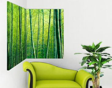 Product picture Corner Canvas Art Bamboo Forest 1:1
