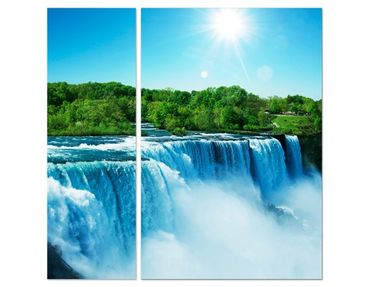 Product picture Corner Canvas Art Waterfall Landscape...