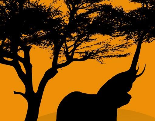 Produktfoto Eckleinwandbild African Elefant Walk 1:1