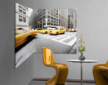 Produktfoto EckLeinwandbild Schwarz-Weiß Rasantes New York 1:2