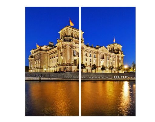 Produktfoto Eckleinwandbild Reichstag Berlin 1:1