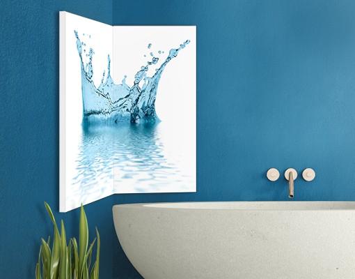 Produktfoto Eckleinwandbild Blue Water Splash 1:1