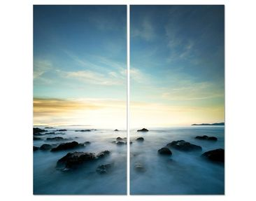 Product picture Corner Canvas Art Sunset Over The Ocean...