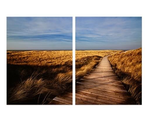 Produktfoto Eckleinwandbild Dünenweg auf Sylt 1:1