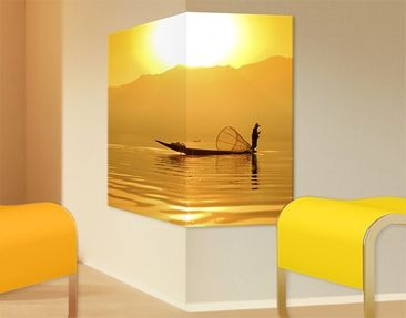 Product picture Corner Canvas Art Fisherman In The...
