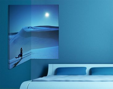 Product picture Corner Canvas Art Full Moon Over The...