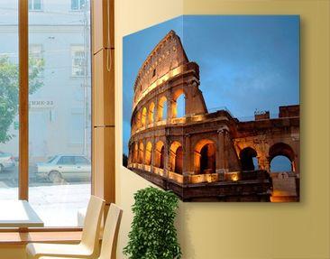 Produktfoto Eckleinwandbild Colosseum at Night 1:1