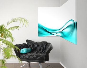 Product picture Corner Canvas Art Turquoise Design 1:1