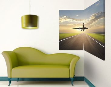 Product picture Corner Canvas Art Starting Airplane 1:1