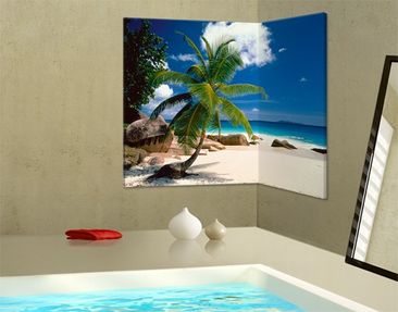 Produktfoto Corner Canvas Art Dreamy Beach 2:1