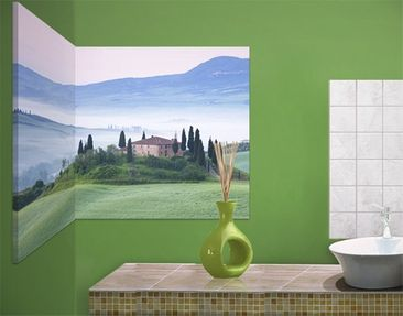 Product picture Corner Canvas Art Sunrise In Tuscany 1:2