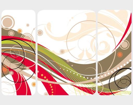 Produktfoto Selbstklebendes Wandbild December Triptychon II