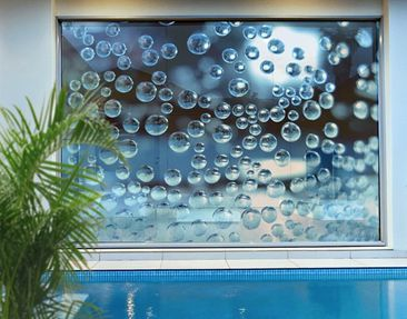 Product picture XXL Window Mural Dark Bubbles