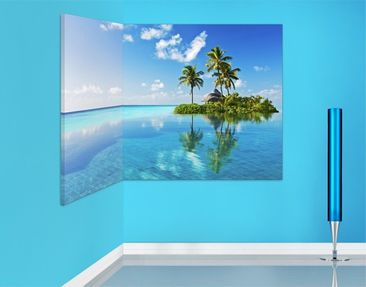 Product picture Corner Canvas Art Tropical Paradise 1:2
