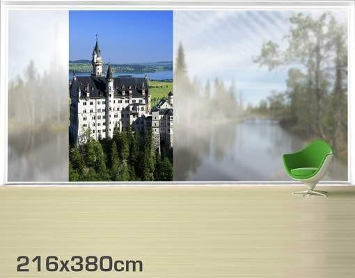Produktfoto Fensterfolie - XXL Fensterbild Schloss Neuschwanstein - Fenster Sichtschutz