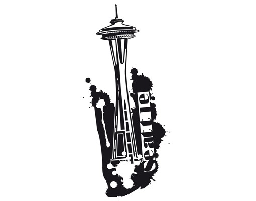 Produktfoto Wandtattoo No.EK163 Space Needle