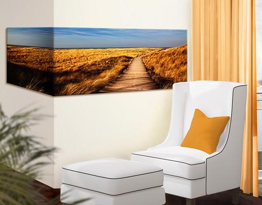 Produktfoto Eckleinwandbild Dünenweg auf Sylt Panorama 1:2