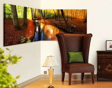 Product picture Corner Canvas Art Autumn Fairytale...