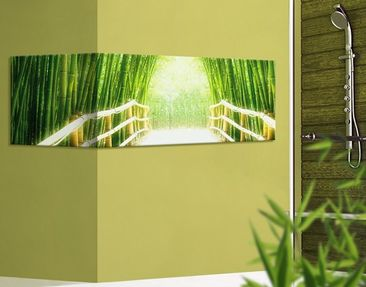Product picture Corner Canvas Art Bamboo Way Panorama...