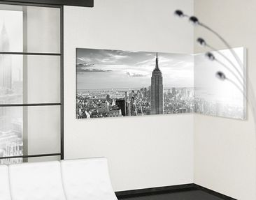 Product picture Corner Canvas Art Manhattan Skyline...