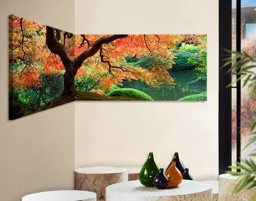 Product picture Corner Canvas Art Japanese Garden...