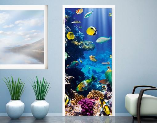 "Produktfoto Fototapete Tür - Papier No.51 ""UNDERWATER PARADISE"" 100x210cm"
