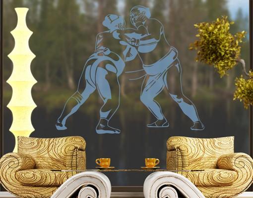 Produktfoto Fensterfolie - Fenstertattoo No.1212 Sumo - Milchglasfolie