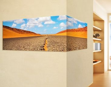 Produktfoto Corner Canvas Art Desert Road Panorama...