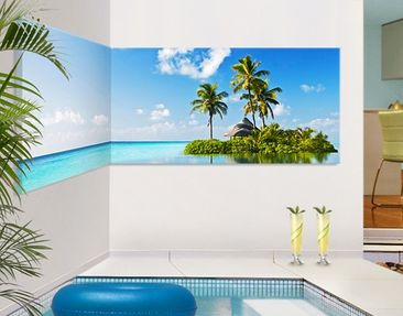 Produktfoto Corner Canvas Art Tropical Paradise...
