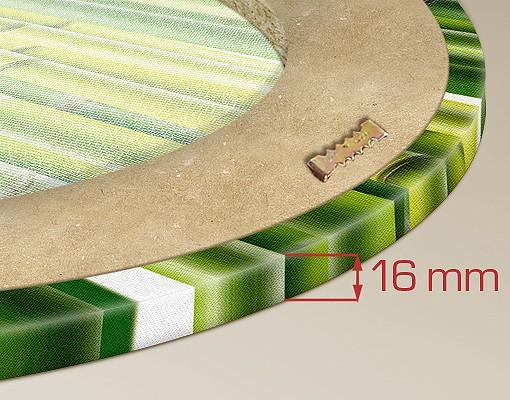 Produktfoto Leinwandbild Oval Liquid Striptease