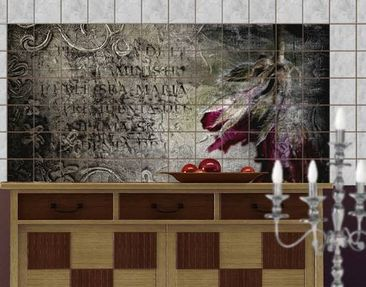 Product picture Tile Mural Mystic Flower