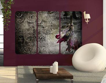 Produktfoto Selbstklebendes Wandbild Mystic Flower Triptychon I