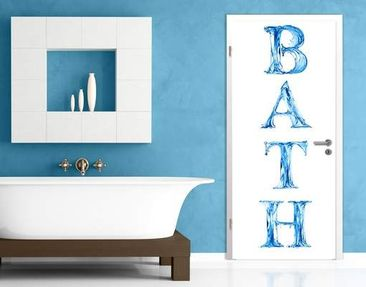 Produktfoto Door Photo Wall Mural Bath I