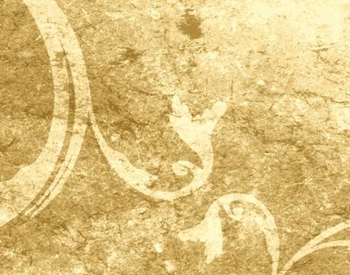Produktfoto Selbstklebendes Wandbild Pergament mit Ornamentik Triptychon I