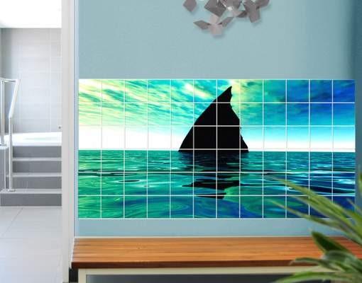 Produktfoto Fliesenbild Shark Attack