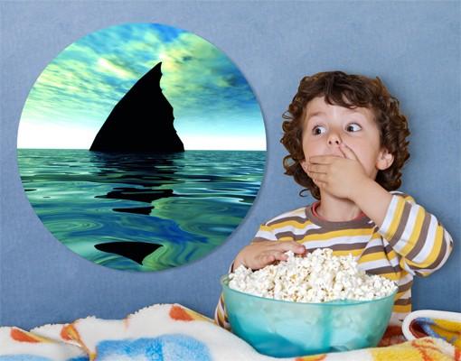 Produktfoto Leinwandbild Kreis Shark Attack