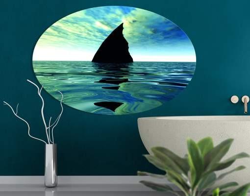 Produktfoto Leinwandbild Oval Shark Attack