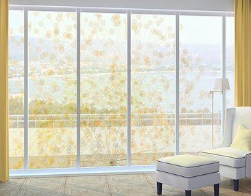 Produktfoto Fensterfolie - XXL Fensterbild No.RY6 Blütenregen - Fenster Sichtschutz